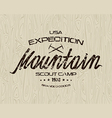 Mountain emblem for t shirt vector image