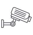 security camera line icon sign vector image