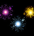 fireworks bursting in glowing colours magenta vector image