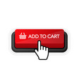 add to card red button on white background hand