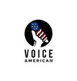 american voice microphone logo icon template vector image
