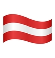 Austrian flag waving vector image