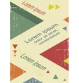 Avant-Garde retro triangle poster vector image