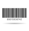 barcode isolated on transparent background vector image vector image
