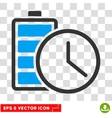 Battery Time Eps Icon vector image