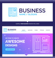 beautiful business concept brand name design grid vector image vector image