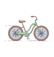 Bicycle isolated line style vector image vector image