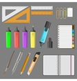 big office set vector image vector image