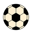 black and white soccer ball graphic vector image vector image