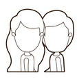 black thick contour caricature faceless side view vector image vector image