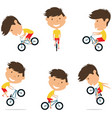 bmx bike rider boy bicycle activity cycling vector image vector image