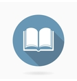 Book Icon With Flat Design Blue and White vector image