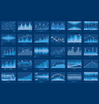 business data financial charts blue banner vector image vector image