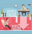 business failure 2 retro cartoon posters vector image vector image
