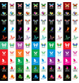 butterfly logo vector image