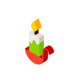 candle isometric object vector image