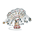 carousel sketch clip art isolated vector image
