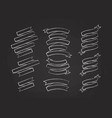 chalk outline blank label ribbon set vector image vector image