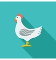 Chicken single icon vector image