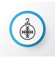 christmas ball icon symbol premium quality vector image