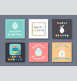 collection of greeting easter cards - holiday vector image