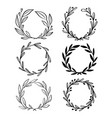 collection of hand drawn floral wreath with vector image vector image