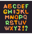 Colorful English alphabet on a gray background vector image vector image