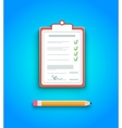 Delivery signature clipboard vector image