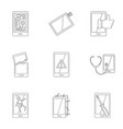 device repair icon set outline style vector image vector image