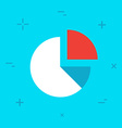 Diagram Flat Minimal Style Colorful Icon vector image