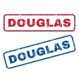 Douglas Rubber Stamps vector image vector image