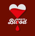 dripping heart donate blood vector image vector image
