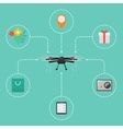 Drone technology concept with flying robot vector image vector image