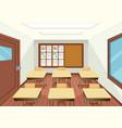 empty classroom interior design vector image vector image