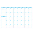 empty planner scheduler agenda or diary template vector image