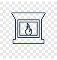 fireplace concept linear icon isolated on vector image vector image