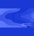 fluid liquid abstract background in paper cut vector image vector image