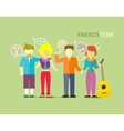 Friends Team People Group Flat Style vector image