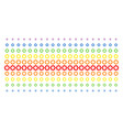 gear shape halftone spectrum pattern vector image vector image