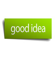 good idea green paper sign isolated on white vector image vector image