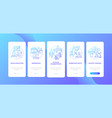 health education dark blue onboarding mobile app vector image vector image