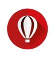 hot-air balloon flat icon vector image