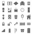 House related icons on white background vector image