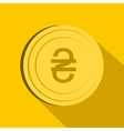 Hryvnia sign icon flat style vector image vector image