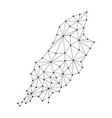 isle of man map of polygonal mosaic lines network vector image
