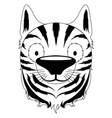 isolated cute tiger avatar vector image