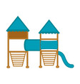 isolated playground equipment icon vector image vector image