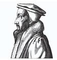 John Calvin vector image vector image