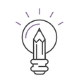 Light lamp sign idea icon concept bulb in hand vector image