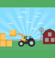 locally grown on countryside ranch vector image